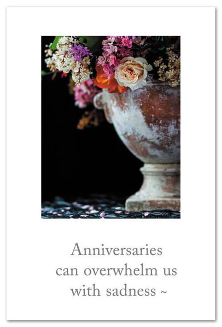 Card  Flowers in Garden Urn Grief Support Cardthartic