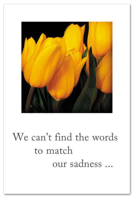 Card Condolence Yellow Tulips  Cardthartic