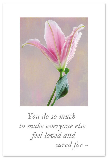 Card Mothers Day pink lily  Cardthartic