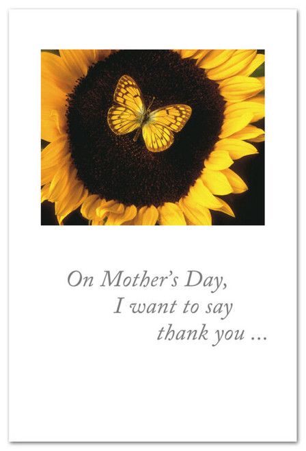 Card Mothers Day sunflower & butterfly   Cardthartic