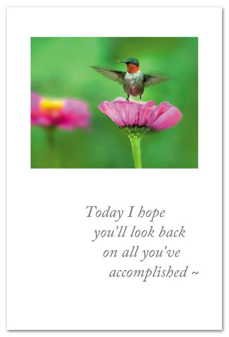 Card congratulations  Humming Bird on flower Cardthartic