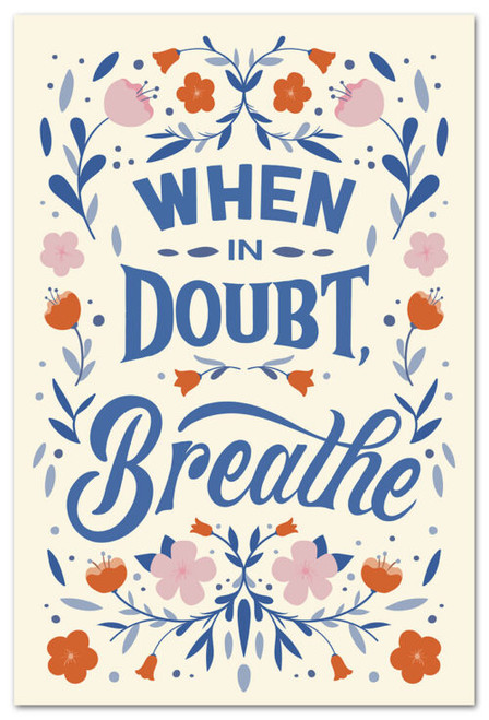 Card  Many Occasions When in Doubt Breathe Cardthartic
