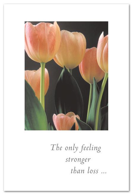 Card  baby tulip and tall tulips  Condolence   Cardthartic
