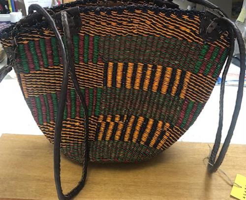 BASKET/PURSE- West African- Handwoven- Multi- each