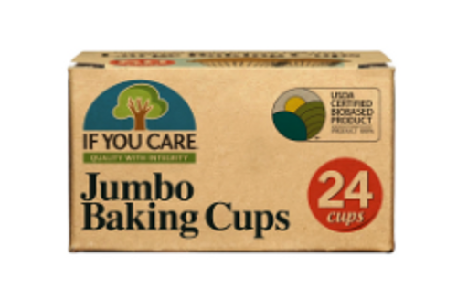 BAKING CUPS, JUMBO, If You Care, 24 count box