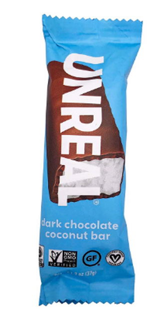 BAR, DARK CHOCOLATE COCONUT, Less Sugar, Unreal - 1.3 oz