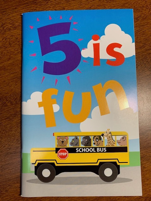 CARD, BIRTHDAY BOOK AGE 5 SCHOOL BUS, Maple Landmark - 48 Pages