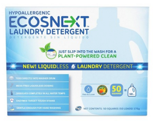 LAUNDRY DETERGENT SHEETS, Free & Clear, Ecosnext, 50 sheets