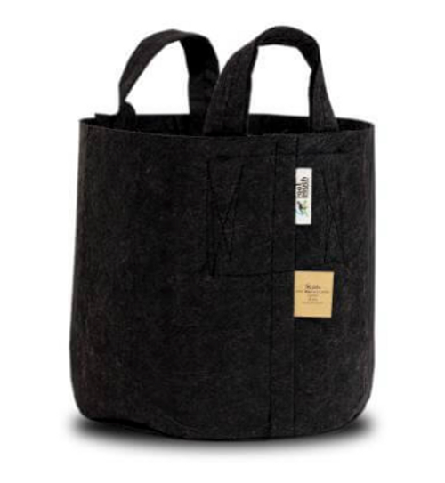 ROOT POUCH, #10 BLACK with handles - 39 LITERS (10 GALLONS)