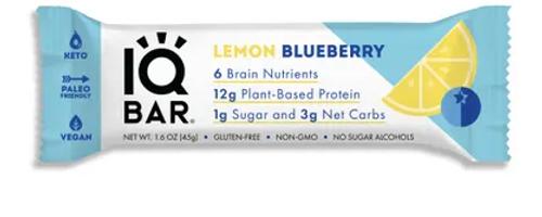 NUTRITIONAL BAR, LEMON BLUEBERRY- IQ Bar, 1.6 oz