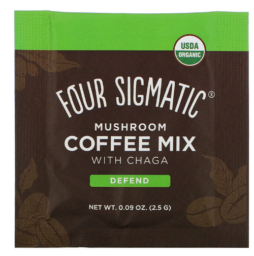 CHAGA MUSHROOM COFFEE MIX with CORDYCEPS, Organic, Single Packet