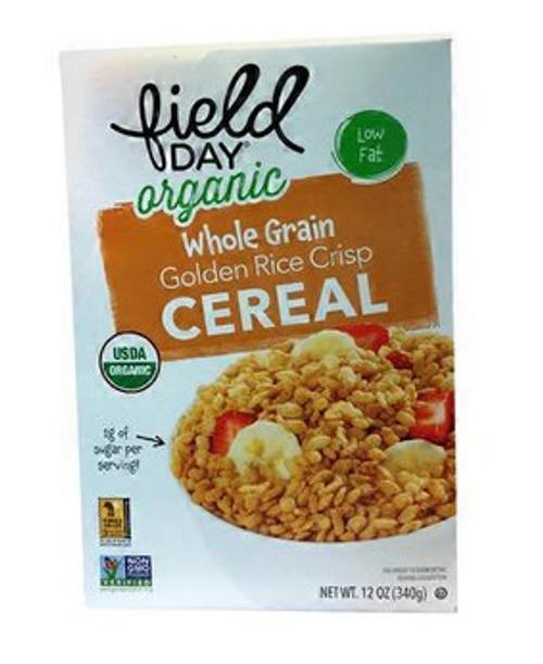 CEREAL, GOLDEN RICE CRISP, Organic Field Day - 12 oz box
