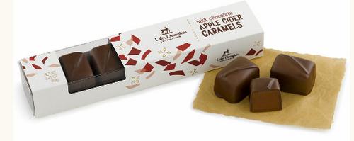 CARAMELS, APPLE CIDER MILK CHOCOLATE, LOCAL -  BOX -