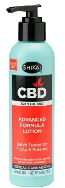 CBD LOTION, 1500 mg, Advanced Formula, Shikai, 6 oz pump bottle