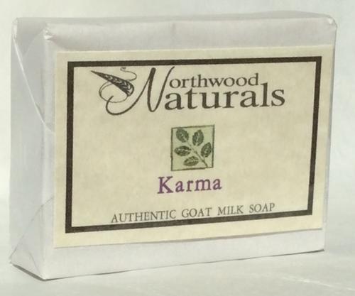 BAR SOAP, KARMA, Goat Milk, Northwood Naturals, 4.5 oz bar
