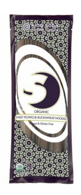 NOODLES, BUCKWHEAT & SWEET POTATO, King Soba, Organic, 8.8 oz