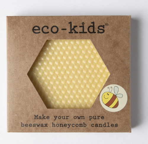 CANDLE KIT- BEESWAX HONEYCOMB- DIY Eco-kids, 7 candles
