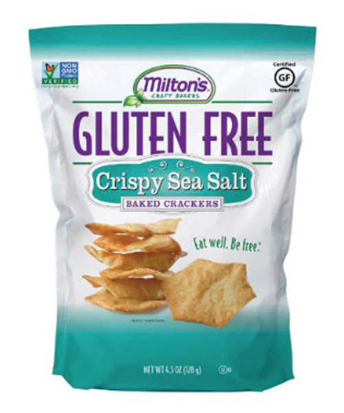 Crackers, G/F Crispy Sea Salt Baked Crackers, Milton's - 4.5 oz