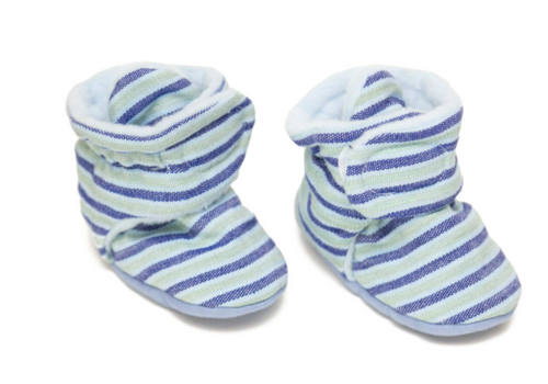 ANKLE BABY BOOTIES, Upavim Crafts- Blue