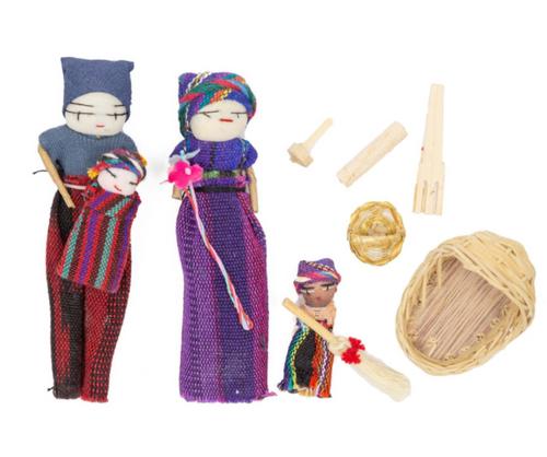 MAYAN FAMILY PLAYSET- Upavim Crafts, 1 set