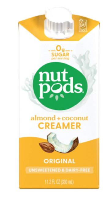 CREAMER, Dairy Free Almond Coconut, Unsweetened, Nutpods - 11.2 fl oz