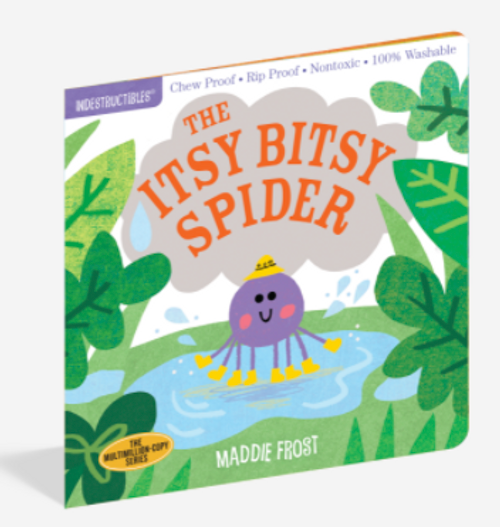 BOOK, ITSY BITSY SPIDER, Indestructibles - 12 pages