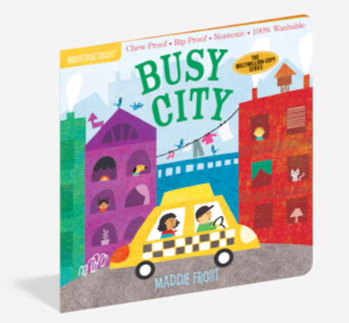 BOOK, BUSY CITY, Indestructibles - 12 pages