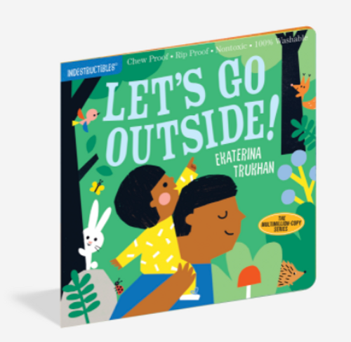 BOOK, LET'S GO OUTSIDE, Indestructibles - 12 pages