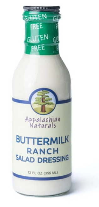 DRESSING, BUTTERMILK RANCH (Sugar-Free), Appalachian - 12 fl oz glass bottle