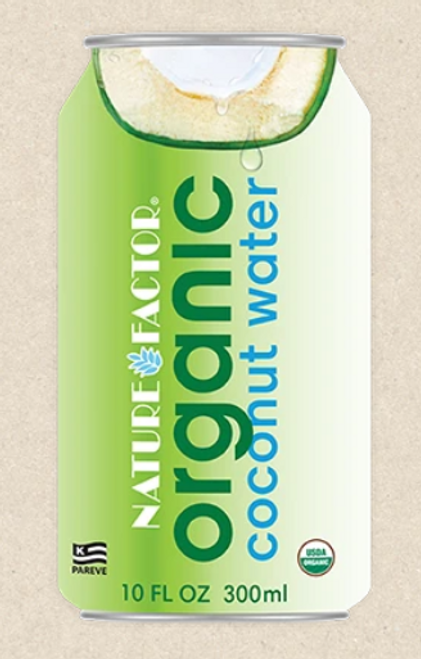 COCONUT WATER, ORGANIC, Nature Factor - 10 fl oz can