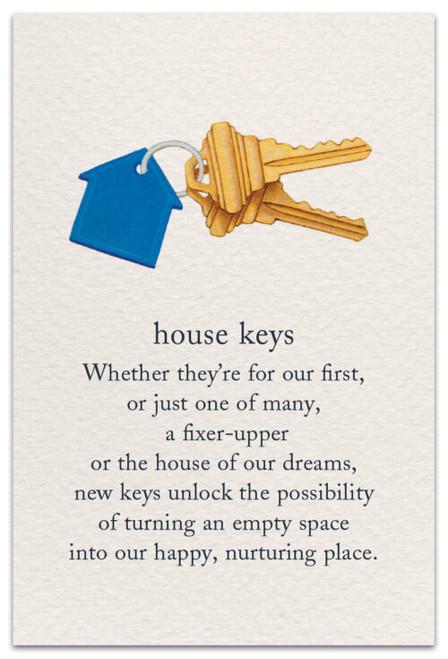 CARD, NEW HOME HOUSE KEYS
