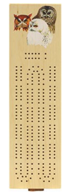 GAME, CONTINUOUS CRIBBAGE, PETERSON OWLS, Maple Landmark
