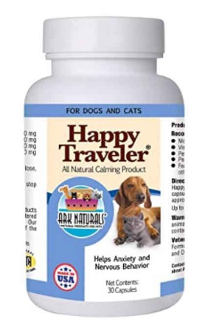 HAPPY TRAVELER, PET ANXIETY, Ark Naturals - 30 capsules