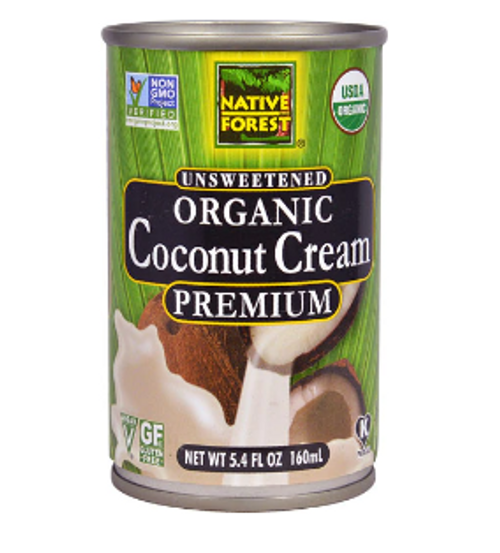 COCONUT CREAM, UNSWEETENED,  Organic, NATIVE FOREST,    5.4 oz