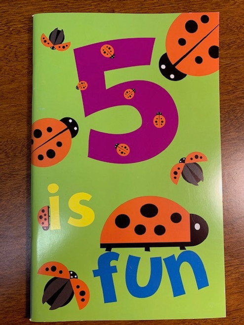 CARD, BIRTHDAY BOOK AGE 5 LADY BUGS, Maple Landmark - 48 Pages