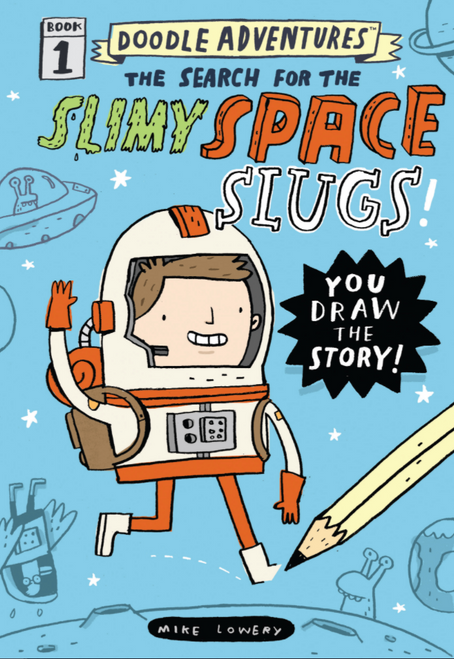 BOOK, DOODLE ADVENTURES: SEARCH FOR THE SLIMY SPACE SLUGS, Workman Publishing - 112 Pages