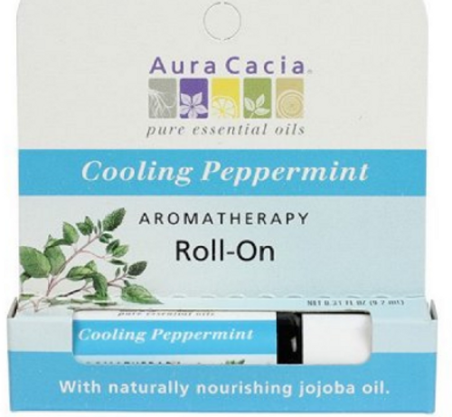 AROMATHERAPY ROLL-ON, COOLING PEPPERMINT, 0.31oz