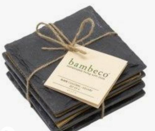 COASTERS, SLATE, Bambeco - SET OF 4