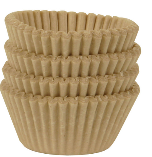 BAKING CUPS, MINI UNBLEACHED, Beyond Gourmet - 96 ct Box