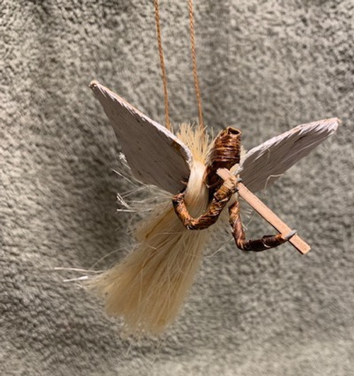 ANGEL ORNAMENT, SISAL 3.5 IN