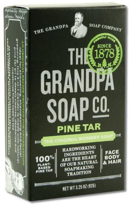 BAR SOAP, PINE TAR, Grandpa's,   3.25 oz