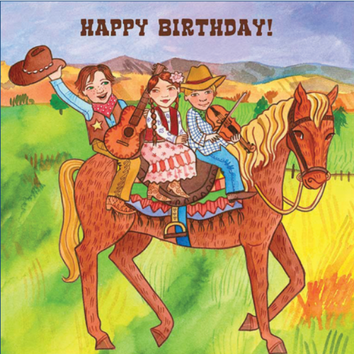 Card, KIDS BIRTHDAY CARD, COWBOY, Putumayo
