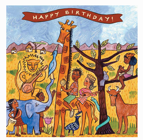 Card, KIDS BIRTHDAY CARD, AFRICA, Putumayo