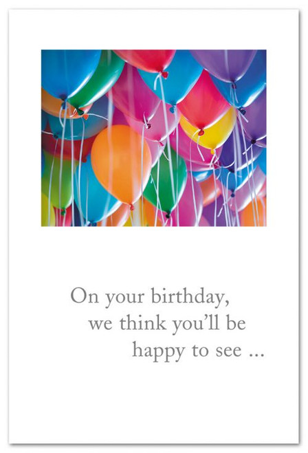 On your birthday, we think you'll be happy to see...