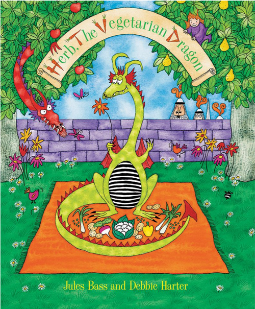 BOOK, HERB THE VEGETARIAN DRAGON, Barefoot Books - 32 Pages