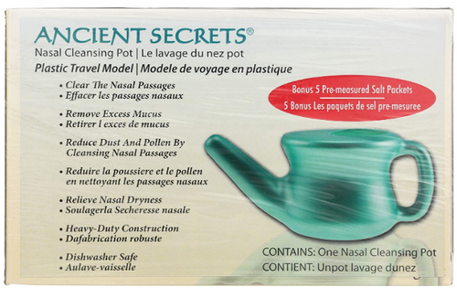 NASAL CLEANSING POT, (Neti)  travel ANCIENT SECRETS