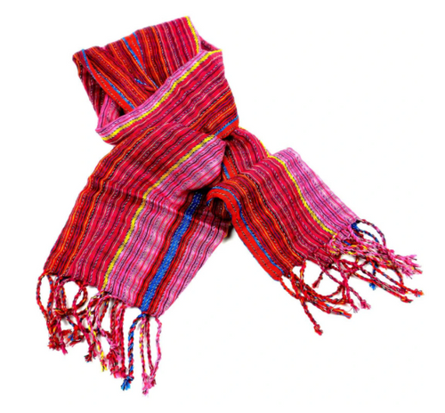 SCARF, SAN ANTONIO WOVEN Style, Global Crafts - PASSION RED