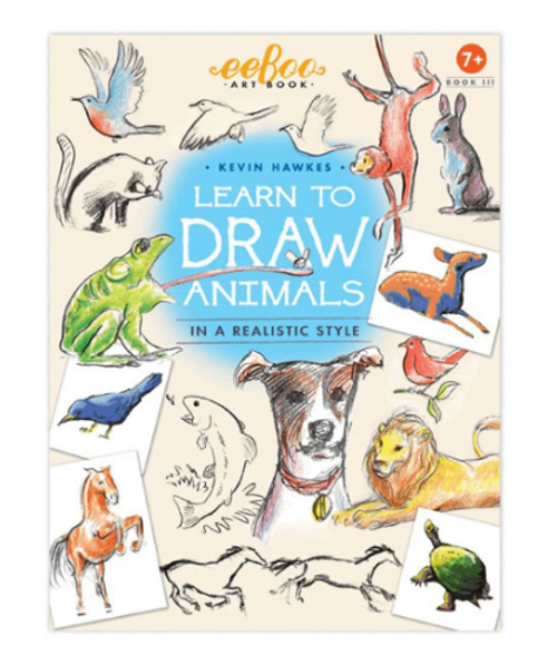 ART BOOK 3 - Learn to Draw Animals, Eeboo - 32 pages