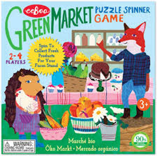 PUZZLE GAME, GREEN MARKET SPINNER GAME, eeBoo