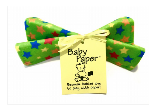 BABY PAPER, Green Stars, Each